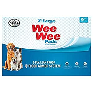 Four Paws Wee Wee Pads Pack of 75 - X-Large