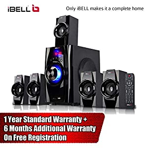 iBELL IBL2045DLX 5.1 Best Home Theater Speaker System Multimedia with FM Stereo, Bluetooth, USB/SD/MMC/AUX Function