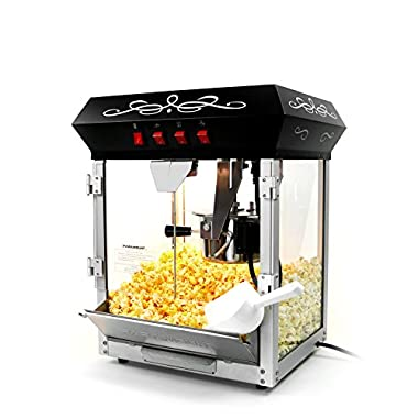 Paramount 6oz Popcorn Maker Machine - New Upgraded Feature-Rich 6 oz Hot Oil Popper [Color: Black]