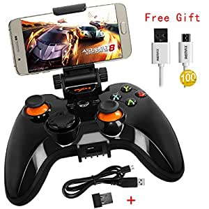 Gamepad Controller X360 PXN 9613 Bluetooth Wireless 2.4Ghz Dual Classic Joystick for Android Windows PC (Black)
