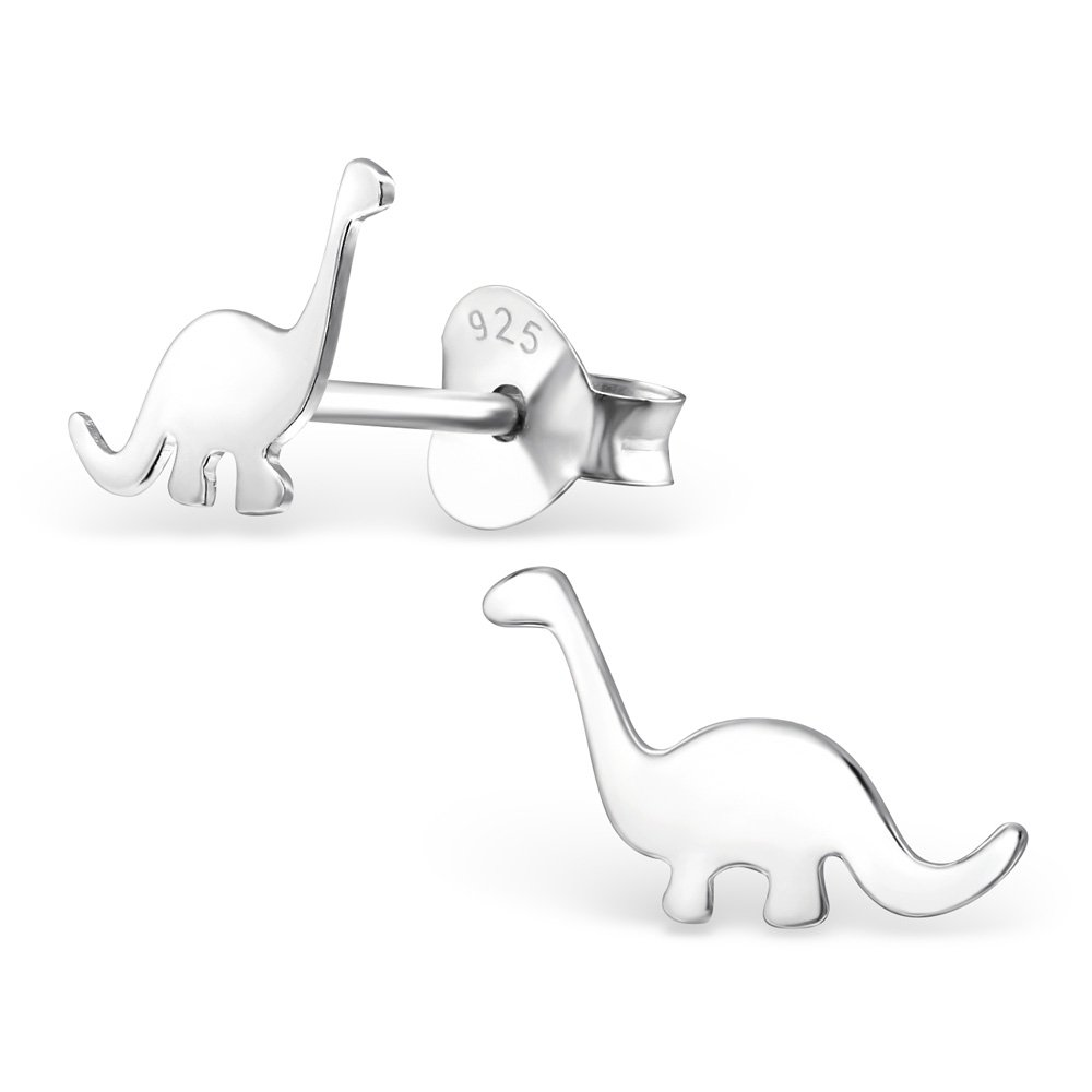Hypoallergenic Dinosaur Stud Earrings for Girls (Nickel Free and Safe for Sensitive Ears) by Atik Jewelry (Image #1)