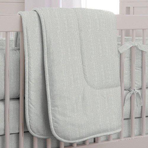Carousel Designs Silver Gray Linen Crib Comforter