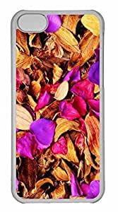 iPhone 5C Case, Personalized Custom Dry Leaves 2 for iPhone 5C PC Clear Case