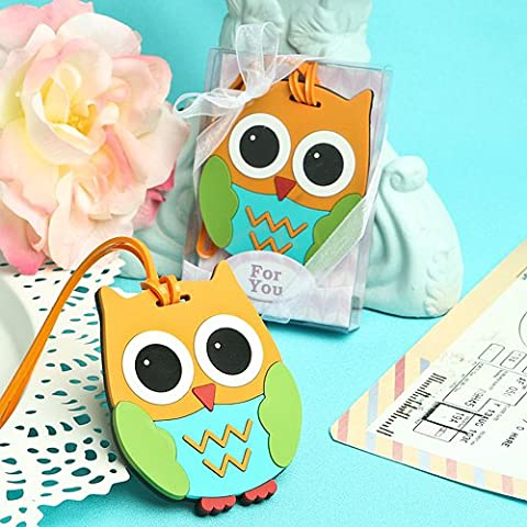 Owl Luggage or Backpack Identification Tag Party Favors (Set of 6)
