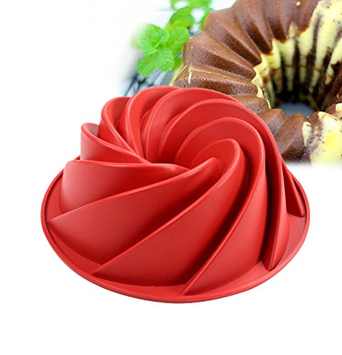 STAR-FIVE-STORE - Large Spiral shape Bundt Cake Pan, Bread Bakeware Silicone Mold baking tools