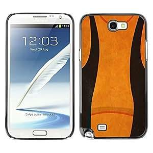 Licase Hard protective case cover Skin Cover - Abstract Black IEiZ7C8cRhV Orange - Samsung Galaxy Note 2