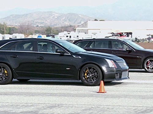 Super Wagon Drag Race! Cadillac CTS-V vs Mercedes-Benz E63 AMG