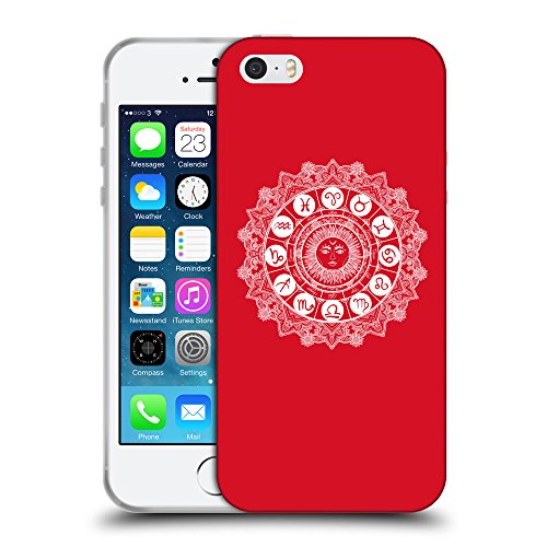GoGoMobile Coque de Protection TPU Silicone Case pour // Q10060624 Zodiaque 2 Cadmium Rouge // Apple iPhone 5 5S 5G SE