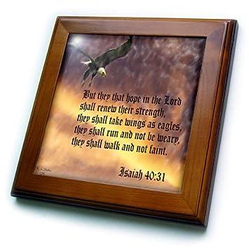 DRose LLC Isaïe Bible Verse Avec Aigle Contre Une Troubled - Carrelage l'aigle