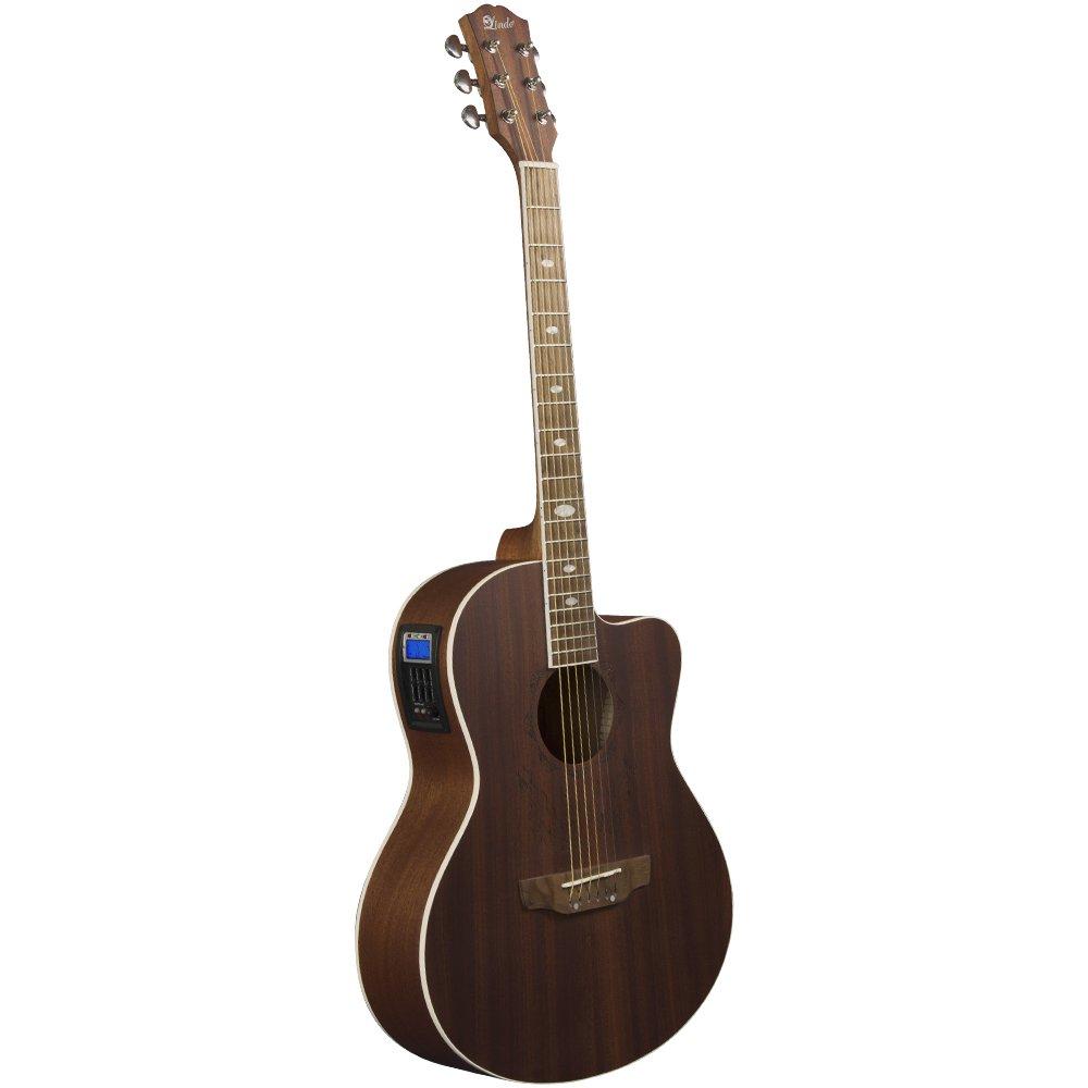 Lindo Feeling Elektro-Akustik Gitarre mit Vorverstärker, digitalem ...