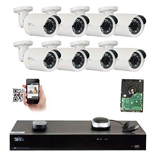 Revised System - GW Security 8 Channel 4K NVR 1920P IP Camera Network POE Video Security System - Eight 5.0 Megapixel (2592 x 1920) Weatherproof Bullet Cameras, Quick QR Code Easy Setup, Pre-Installed 2TB Hard Drive