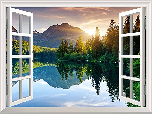wall26 Peaceful Landscape Mountains Removable product image
