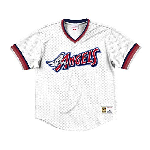 Mitchell & Ness California Angels MLB Men's Dinger Mesh Jersey Shirt