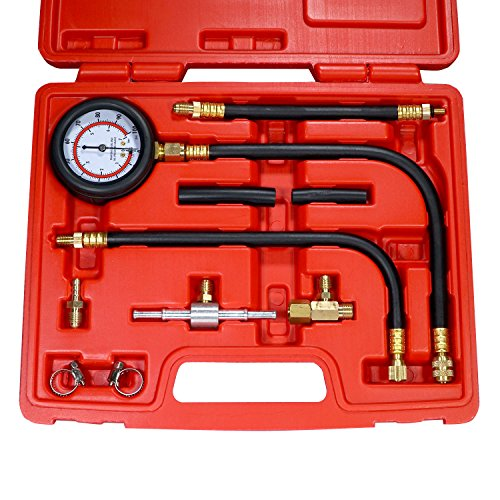0-100 PSI Fuel Injection Pump Tester Test Injector Pressure Gauge Kit Oil