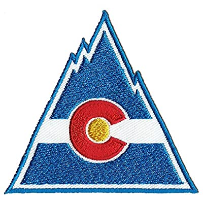 """Colorado Rockies The Past Style-1 Logo Sew Ironed On Badge Embroidery Applique Patch 3.2""""x3"""""""