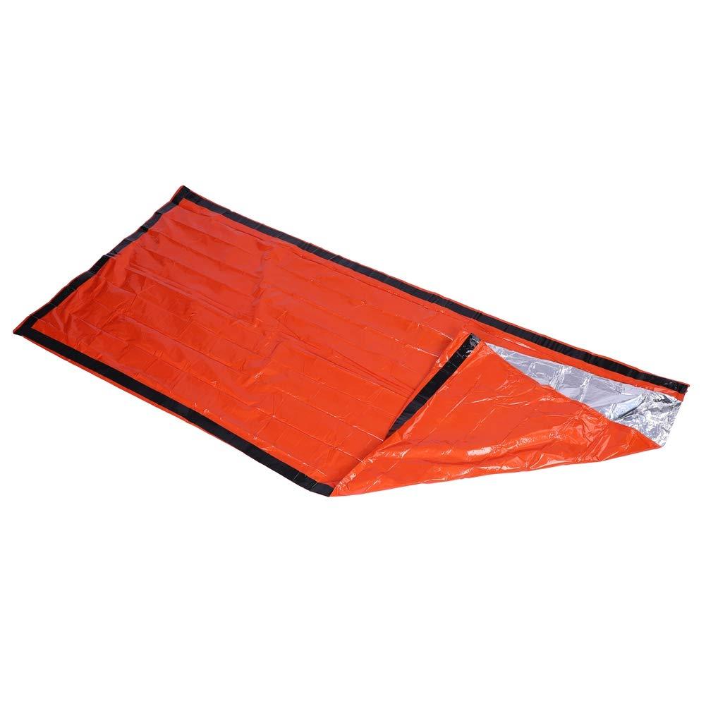 Zetiling Saco de Dormir Ligero Funda Impermeable de Sacos t/érmicos Equipo de Supervivencia port/átil Uso como una Manta de Emergencia para Caminatas y acampadas al Aire Libre