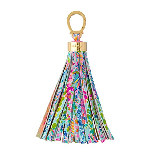 (Lilly Pulitzer Keychain - Catch The Wave, Blue, Large)