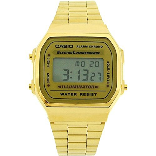 CASIO Vintage Collection A168 Watch, Gold