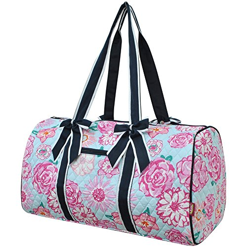 quilted cotton duffle bag - 6