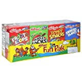 Kellogg's Cereal Fun Pak, 8 Boxes (Pack of 6)