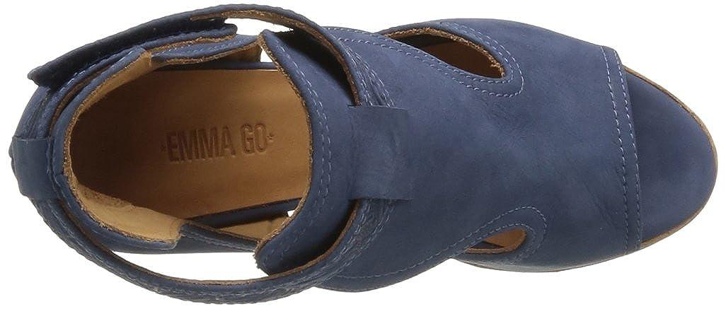 a492620613af Emma Go Akita - Sandalias de vestir de cuero nobuck para mujer azul ...