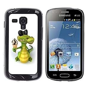 LECELL -- Funda protectora / Cubierta / Piel For Samsung Galaxy S Duos S7562 -- Friendly Crocodile Ice Cream --