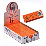 "Zig Zag 1 1/4"" 24ct Rolling Papers Orange Box - 33 leaflets per pack - 24 packs per box"