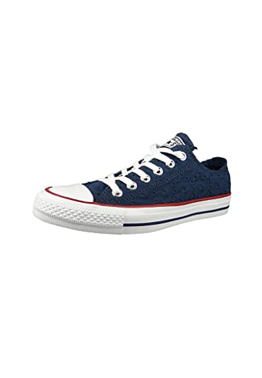 Amazon.com | Converse Womens Chuck Taylor All Star Ox Navy Garnet Canvas Trainers 7 US | Fashion Sneakers