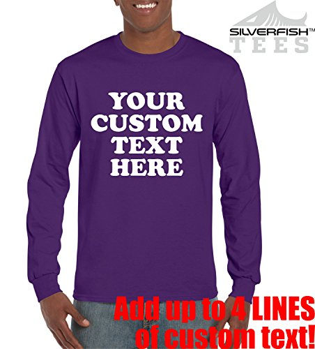 Customized Your Text Here Personalized Long Sleeve T Shirts Unisex Youth Adult Novelty