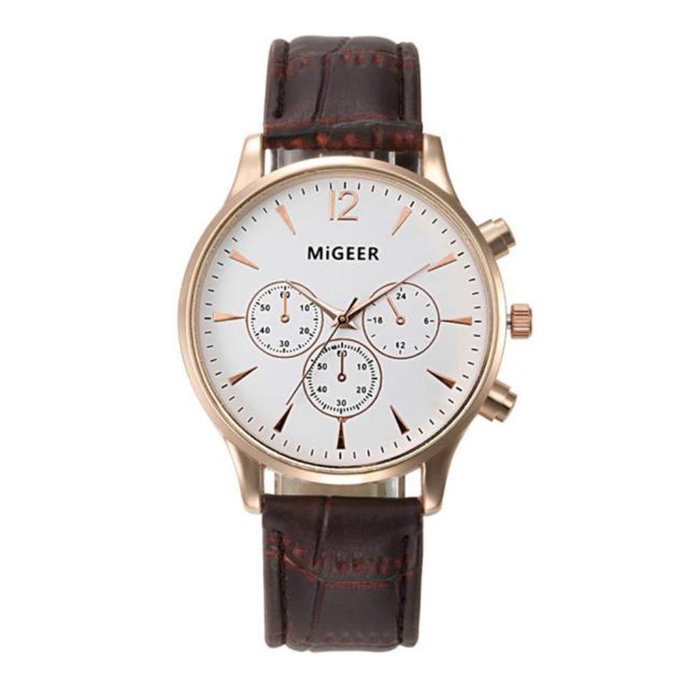 Men's Quartz Watch On Sale,Clearance Men's Classic Business Watch,Wugeshangmao Boy's Fashion Analog Sport Wrist Watch Casual Watches Gift,Round Dial Case Crocodile Faux Leather Band Watches