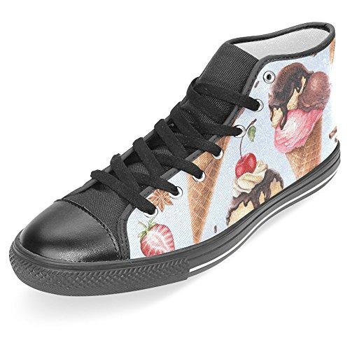Scarpe Da Donna Casual High Top Classico Casual Tela Scarpe Da Ginnastica Stringate Sneakers Gelato