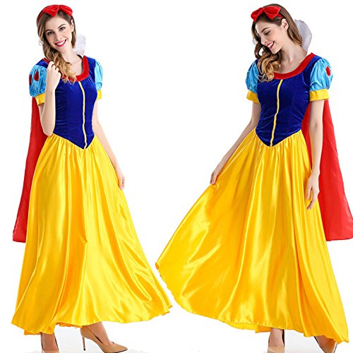 Luke Skywalker Costume Pattern (Laurel Mac Rebel Elegant Cute Adult Cosplay Dress Halloween Christmas Ball Costume Snow White (Medium))