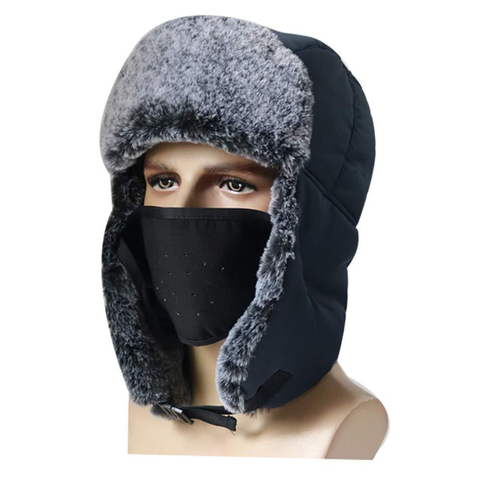 Coats for Men,2PCS Unisex Winter Waterproof Windproof Earmuffs Ski Cap Breathable Mask+Cap Set,Baby Girls Hats /& Caps