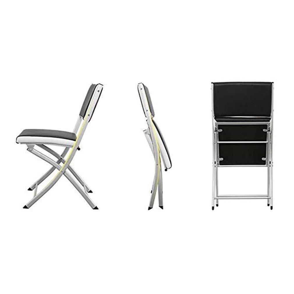 Pangpang Husgeråd, hopfällbar stol med armstöd vadderat säte och ryggstöd datorkontor (1 stol, flera färger) (Färg: Blå) gUL