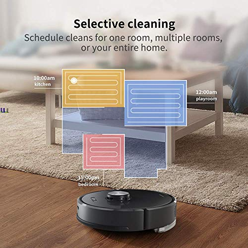 Roborock S6 vs S5 Robot Vacuum, Robotic Vacuum Cleaner and Mop with Adaptive Routing, Selective Room Cleaning, Super Strong Suction, and Extra Long Battery Life, APP & Alexa Voice Control