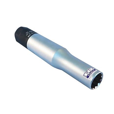 Ajuste Herramientas 12 mm vaso de bujía de incandescencia par de torsión limitada