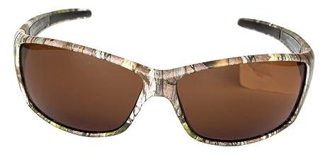 Hornz Forrest braun Camouflage polarisierten Sonnenbrillen für Männer um Sport Rahmen & freie passende Beutel aus Mikrofaser 0wR2a
