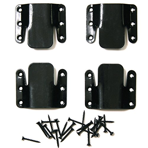 Choice Parts – Universal Black Sectional Connector (Pack of 4 Brackets) – Great Non Sliding Sofa Fastener for Sectionals Pieces!