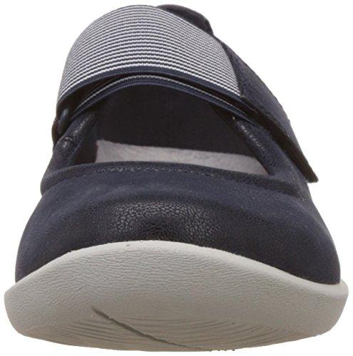 Para Mujer Azul Marino Sillian Zapatos Clarks Cala Planos ECq171