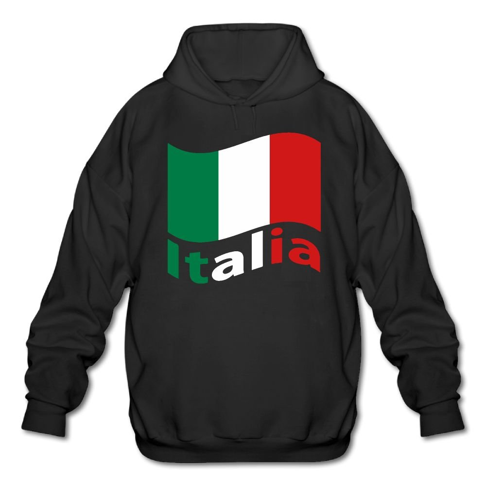 HEHE TAN Mens Pocket Hoodies Funny Tricolor Our National Flag Casual Pullover Workout Hooded Sweatshirt