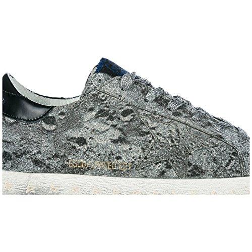 Originale Donna Goose Slide Sneakers Argento Scarpe Nuove Golden gqfn6w7pq