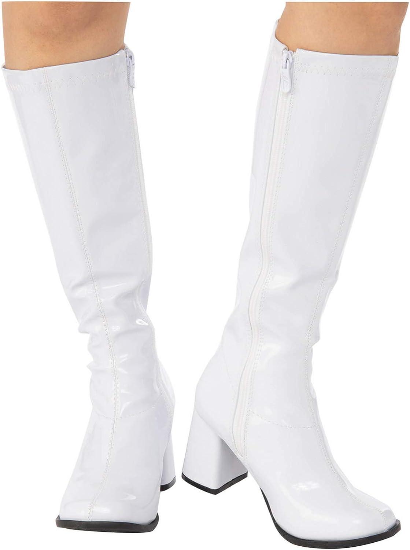 Women/'s White Gogo Boots