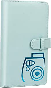 Joick 3-Inch 96 Pockets PU Leather Instant Photo Card Collection Album Picture Case for Mini 8/9/7s/25/70/90,Light Blue