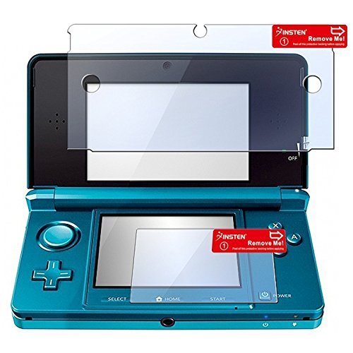 3 Pack Clear LCD Screen Protector Cover for Nintendo 3DS (Set of 2 - Top and Bottom Cover)