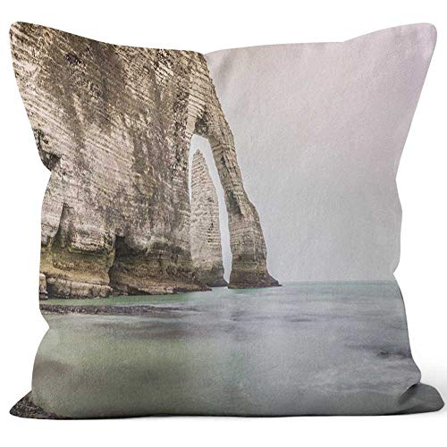 Nine City Etretat Rock Formation in Normandie France Throw Pillow Cover,HD Printing for Sofa Couch Car Bedroom Living Room D¨¦cor,20