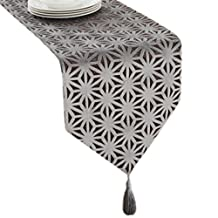 12*79 Inch, Elegant Table Runner Bed Runner Tablecloth Placemat Grey