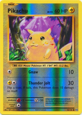 Pokemon - Pikachu (35/108) - XY Evolutions - Reverse Holo