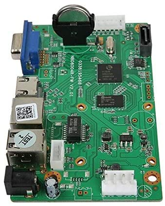 Quanmin 16CH 5MP H.265//H.264 Network Digital Video Recorder Mainboard Intelligent Analys IP Camera NVR Board Motion Detection Max Support 8TB SATA HDD ONVIF CMS XMEYE With Cable P2P Cloud