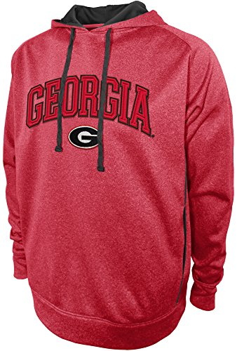 Athletic Hood Majestic (NCAA Georgia Bulldogs Pullover Hood with Contra, X-Large, Red)
