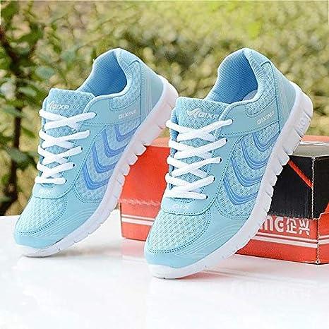 MZNSYDX Zapatos Casuales de Mujer Mujeres Zapatillas de Deporte ...